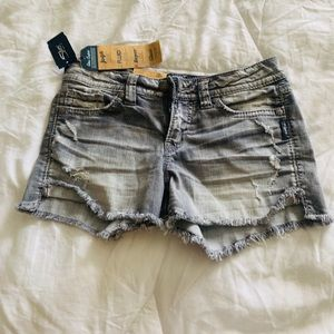 Silver jean shorts new with tags